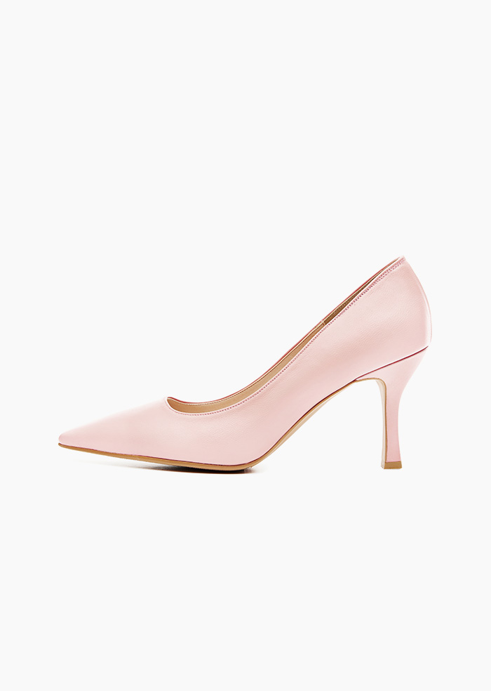 Grace Leather Heel (Light Pink)