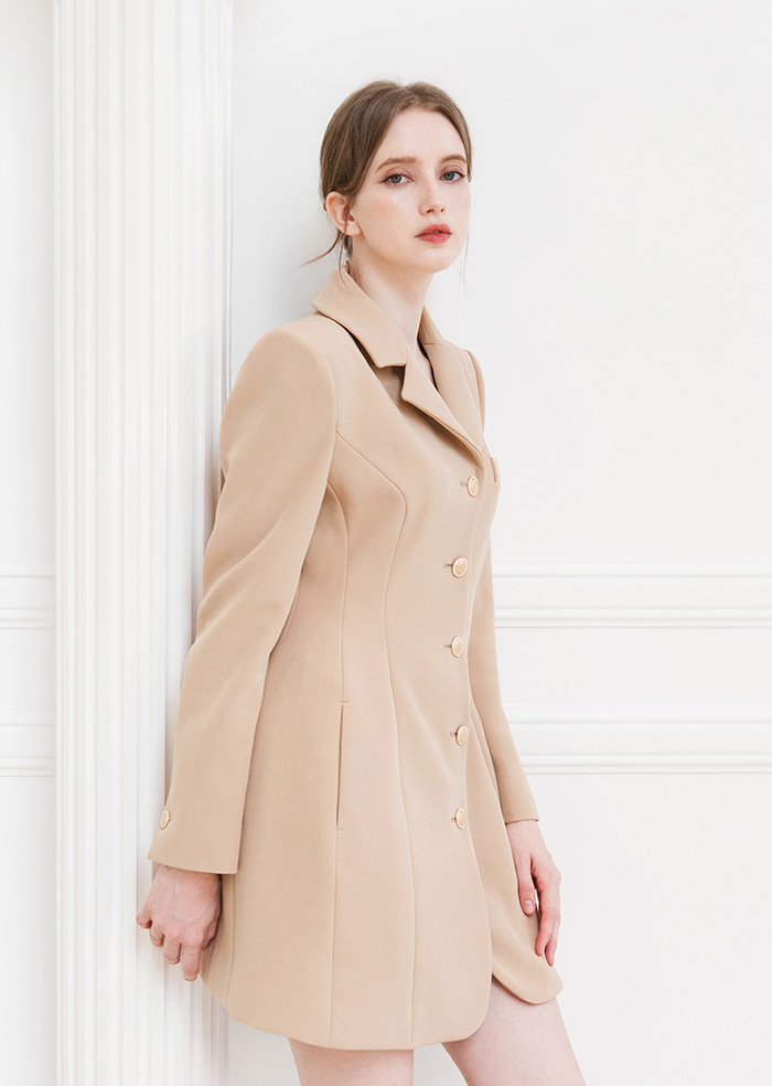 Princess Shape One-Piece Jacket (Beige)