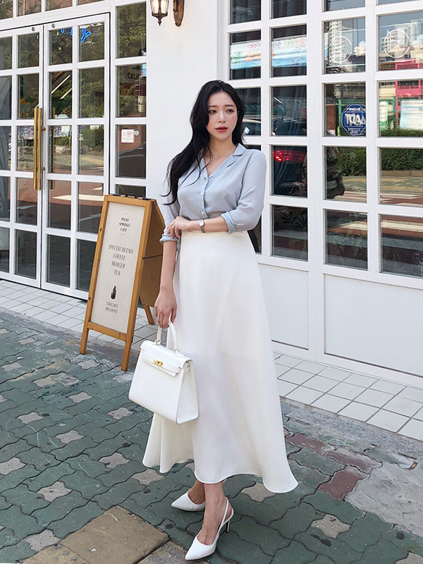 [GRACE-U] LONG SKIRT (Ivory)
