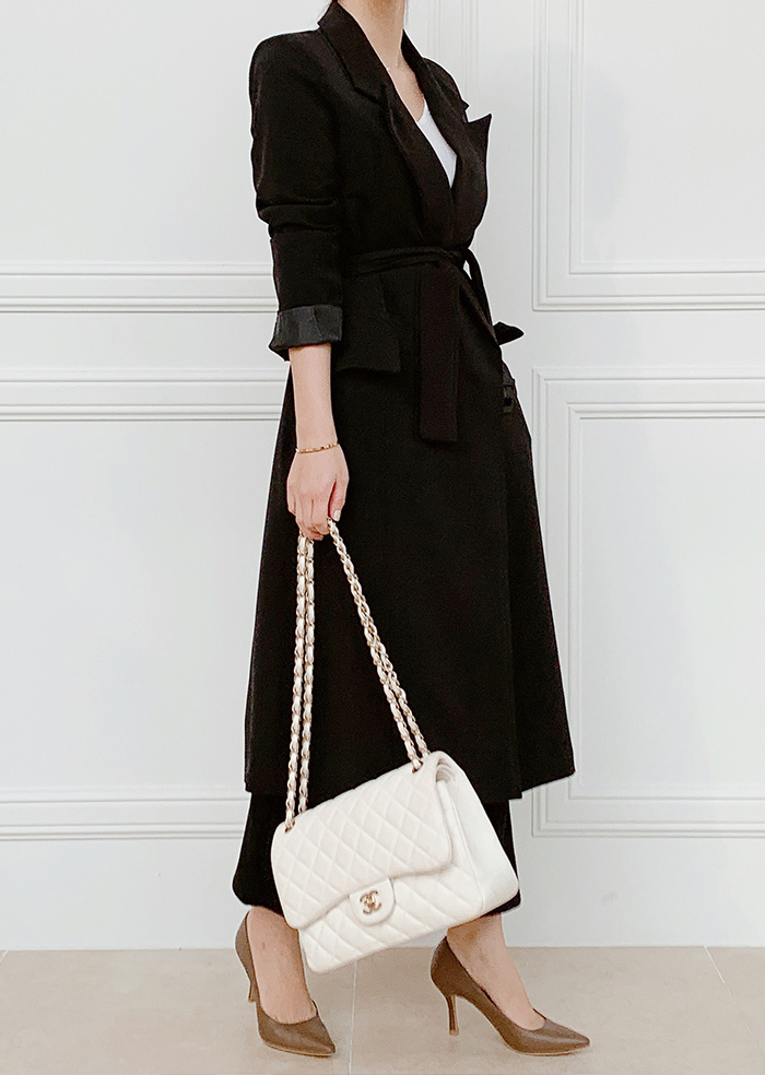 Slim Long Coat (Black)