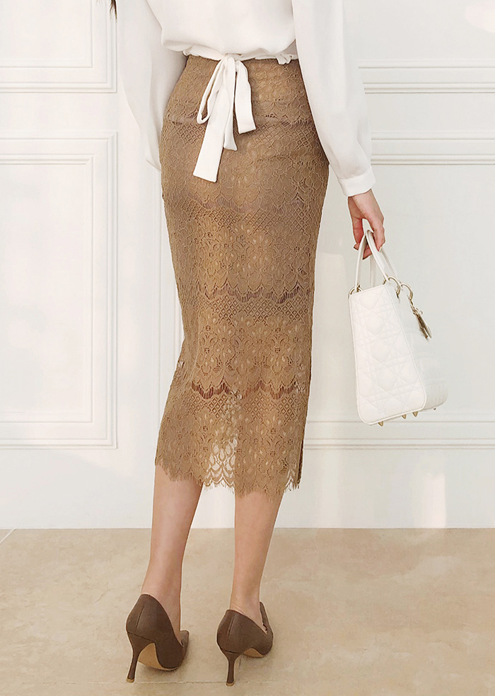 Race Skirt (Beige)