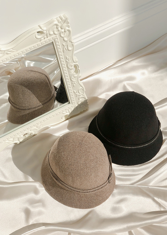 Pearl Cloche Hat (2color)
