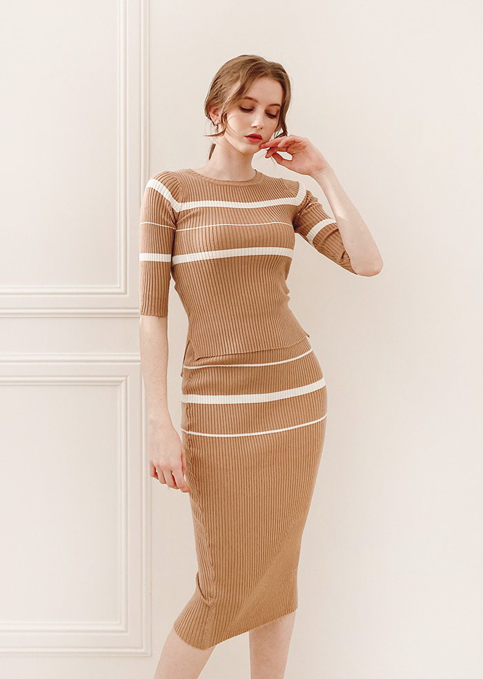 Slim Two-piece (Beige)