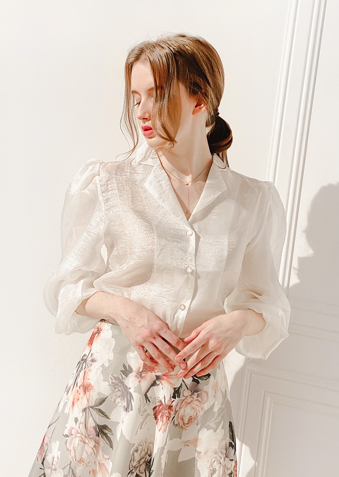 Pearl Blouse (Ivory)