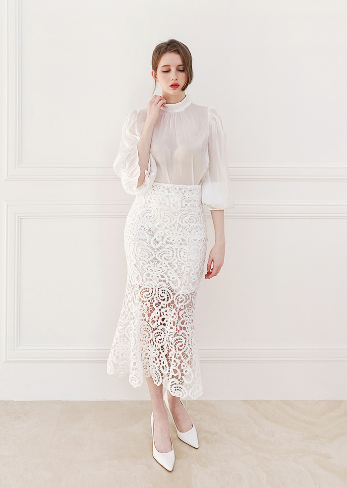 Lace Mermaid Long Skirt
