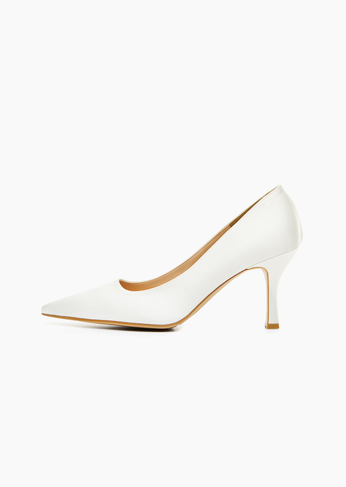 Grace Satin Heel (White)