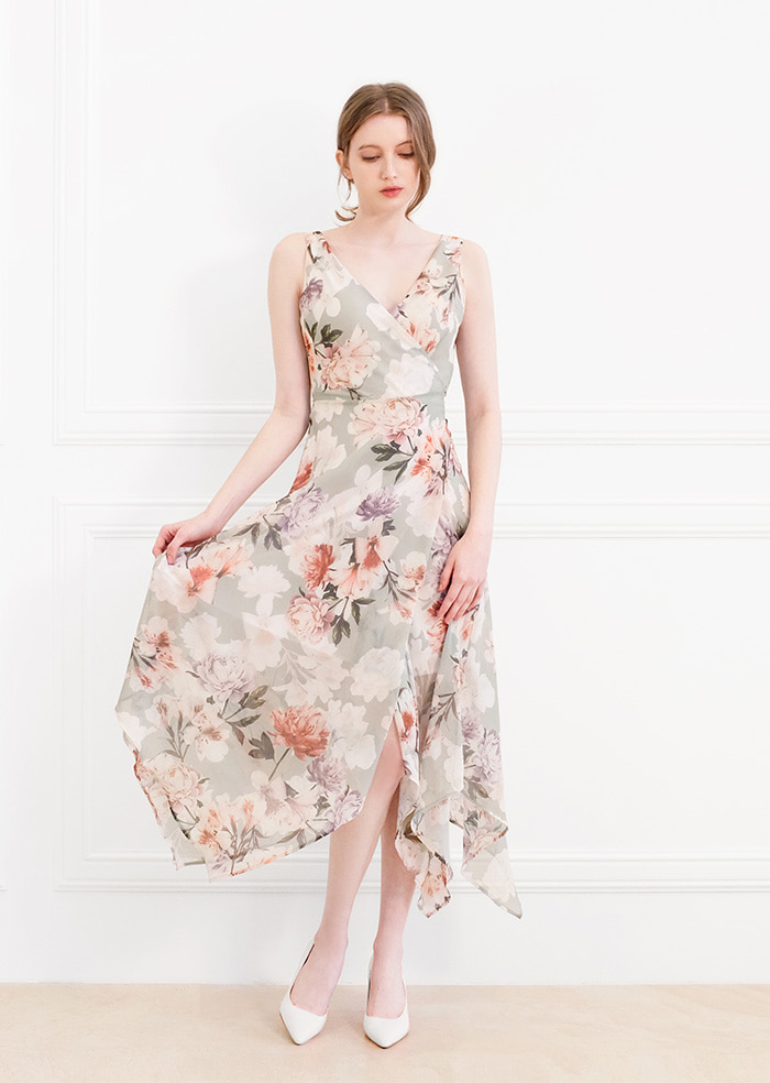 Perfume Flower wrap One-piece
