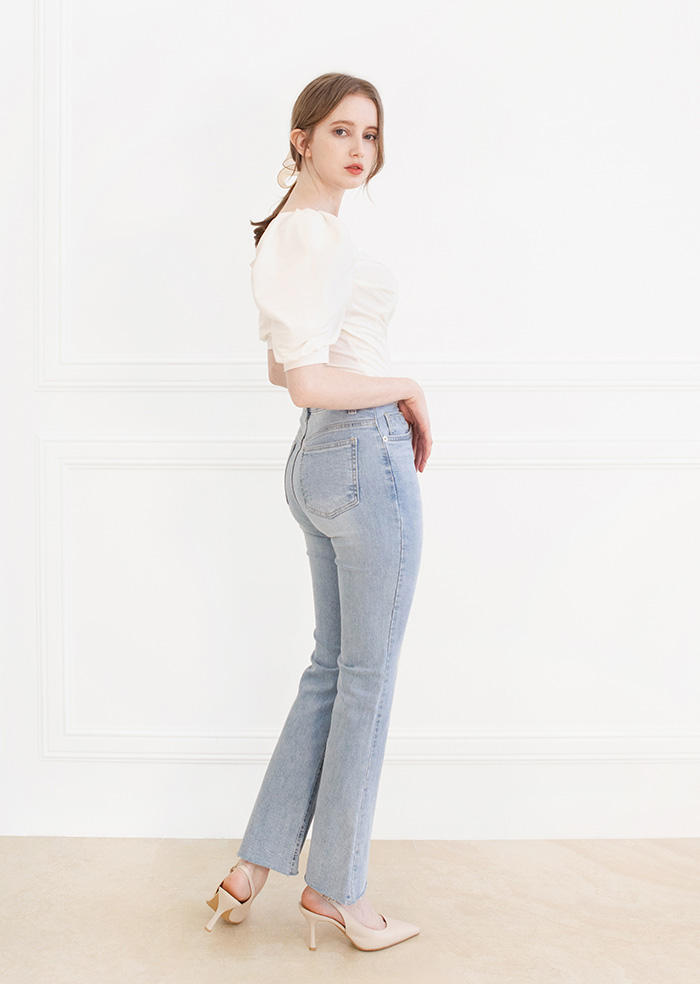 Grace Short BootsCut Denim