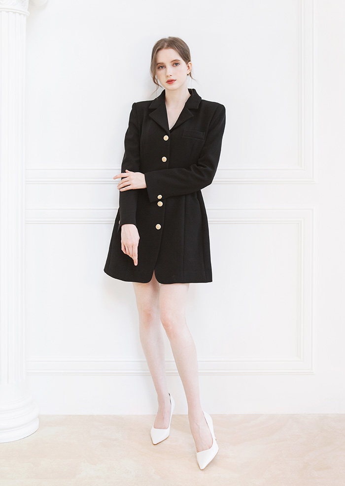 Princess Shape One-Piece Jacket (Black)