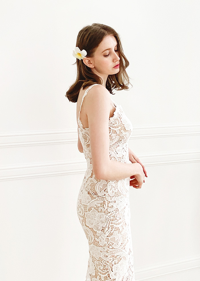 Floria Lace One-piece (White)