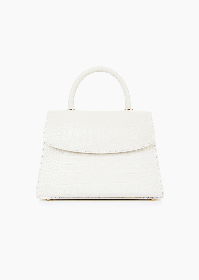 Grace Plie Bag (White)