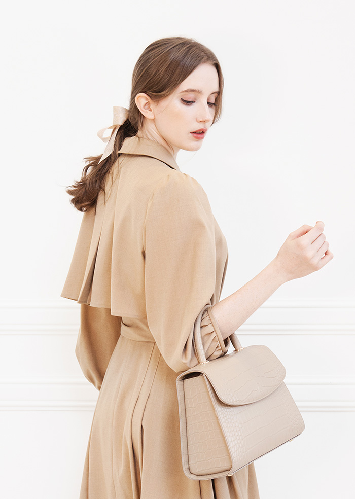Trench Flare Long One-Piece (Camel)